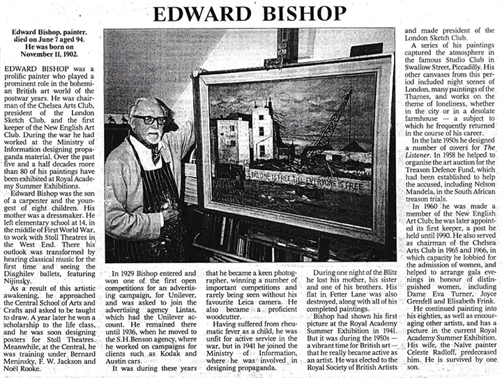Edward Bishop Obituary The Times June 1997