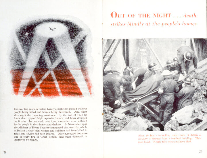 "The Ministry of Information booklet ""A People at War""."