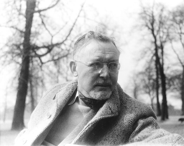 Photograph of Edward Bishop in Green Park in 1954.